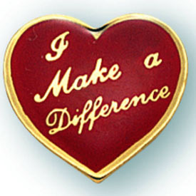 I Make a Difference Heart Pin