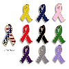 2-D Ribbon Awareness Lapel Pin