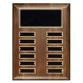 Hand Rubbed Walnut Perpetual Plaque