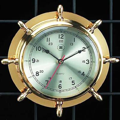 Brass Ship Clock