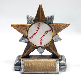 Baseball Two Tone Star Trophy