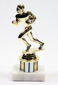 Value Football Trophy with 1 Color Column