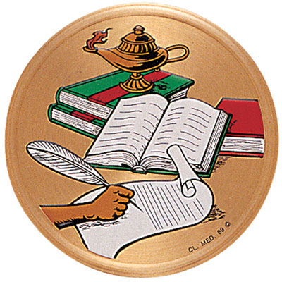 Awesome Multicolor Lamp Of Learning Medal