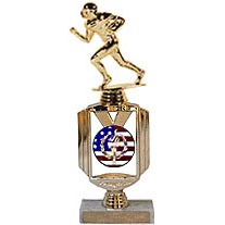 Patriotic Halfback Football Trophy