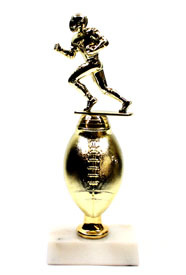 Halfback Football Trophy with Gold Football Riser