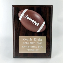 Coachs Football Plaque