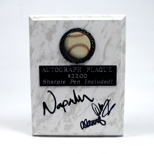 Baseball-Autograph Plaque