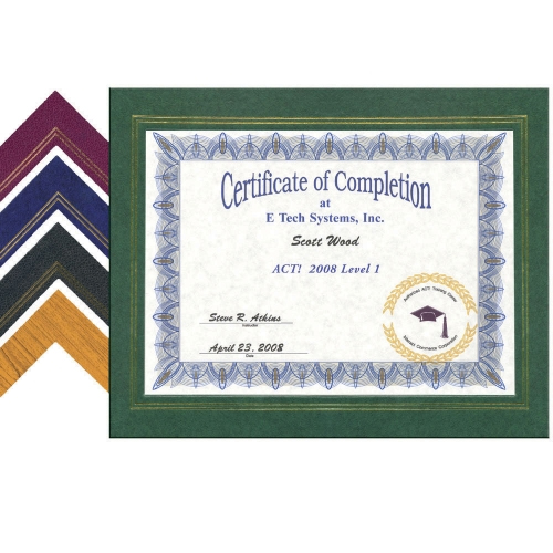 EZ Mount Leatherette Certificate Frame