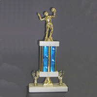 Wide Color Column Volleyball Trophy