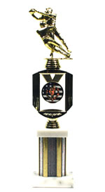 Double Action Medallion Football Trophy