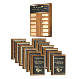 Employee Recognition Plaque Package C