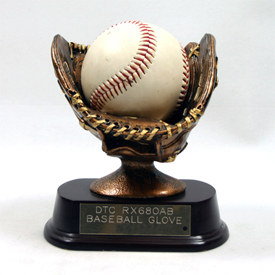 Classic Finish Baseball Glove Trophy