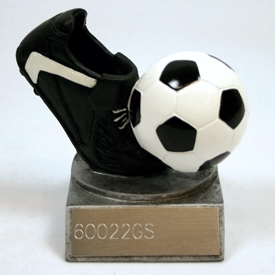 Resin Cleat & Ball Soccer Trophy