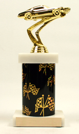 Racing Marble Base Graphic Column Trophy