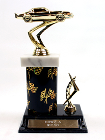 Racing Graphic Column Trophy