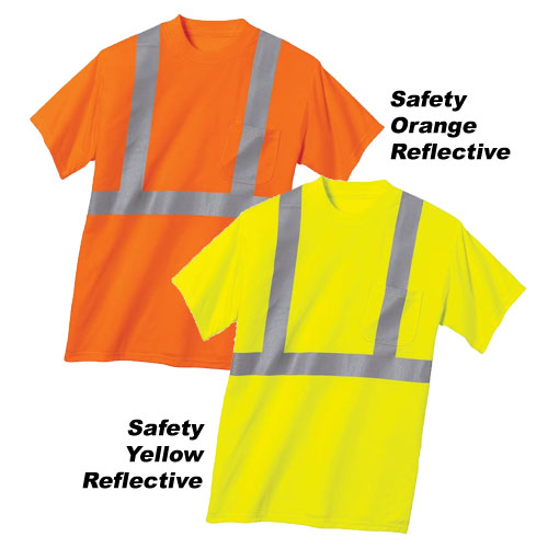 Cornerstone ANSI Compliant Safety T Shirt with Pocket