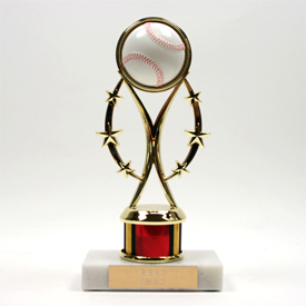 Rising Star Trophy With 1 Color Column