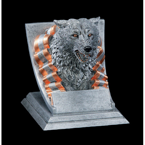 Wolf Mascot Trophy Team Trophy Online Sports Trophies