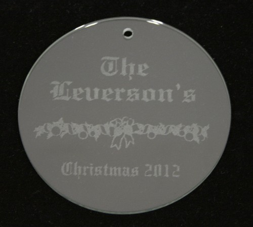 Personalized round glass ornament