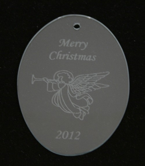 Personalized oval glass ornament