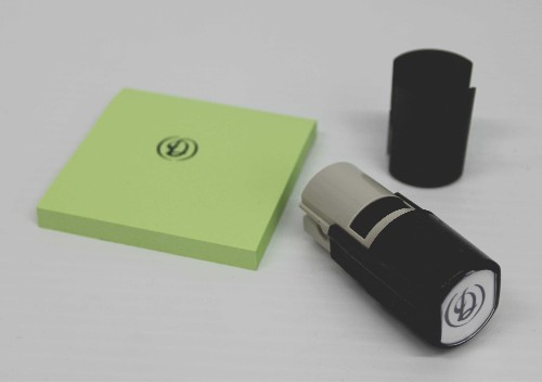 IDEAL Personalized 3 line self inking stamp .625 inch round