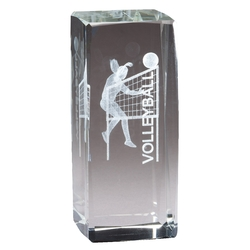 3D Crystal Female Volleyball Player Award