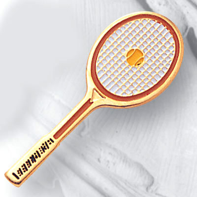 Tennis Racquet Pin by Athletic Awards