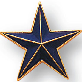 Blue, Red, or Green Star Pin
