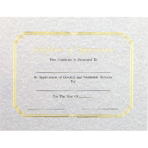 Certificate of Appreciation by Athletic Awards