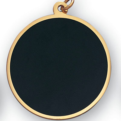 large plain black gold medal for engraving