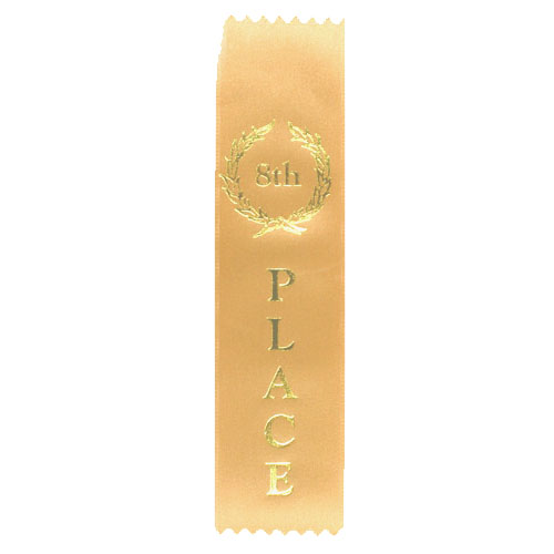 8th Place Flat Ribbon by Athletic Awards