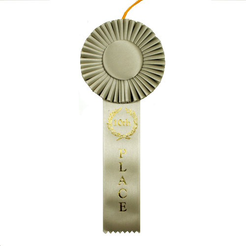 10th Place One Streamer Rosette Ribbon by Athletic Awards
