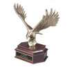 Cast Metal Eagle on Mahogany Finish Base