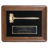 24K Gold Plated Gavel Plaque
