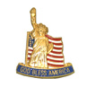 God Bless America Statue of Liberty Pin