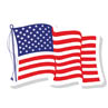 American Flag Window Decal