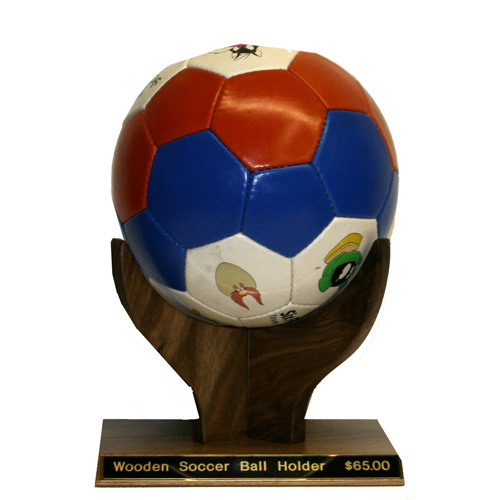 Wooden Soccer Ball Holder Unique Soccer Team Trophy Mvp